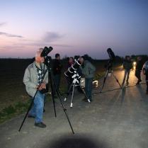 Début de l'observation à Hirtzfelden (7.4.2017), avant la tombée de la nuit